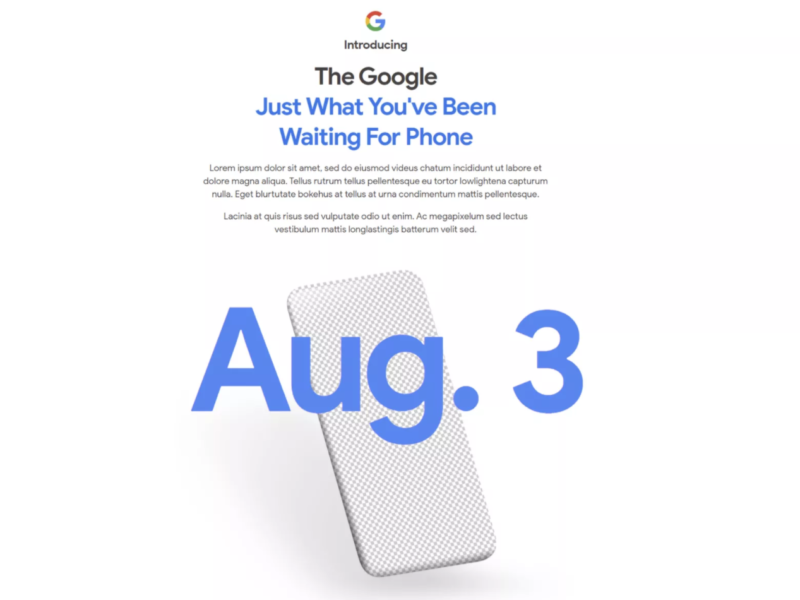 Pixel 4A Set For Early August Release?