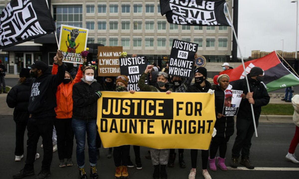 Protests Surge In Brooklyn Following The Daunte Wright Shooting