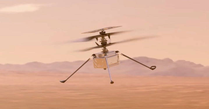 Mars Helicopter Ingenuity Makes Historically Successful First Flight